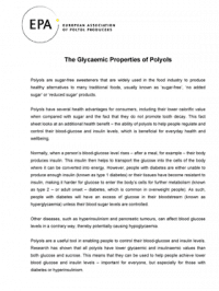 The Glycaemic Properties of Polyols